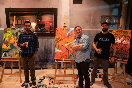 Diogo Sales Matt Litwack Cary Petraglia 540x360 - Event Recap: Pernod Ricard Art Battle @ournewyorkvodka @PernodricardUSA @NapkinKilla