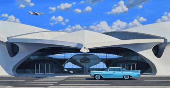 FlightCentersized 540x281 - Danny Heller - Birth of the Cool Exhibit November 5 – December 7, 2019 at George Billis Gallery @Danny_Heller