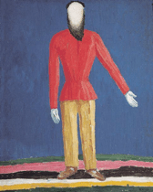 Peasant, 1928-32. Oil on canvas. 120 x 100 cm. From: http://www.wikipaintings.org/en/kazimir-malevich/peasant-1932.