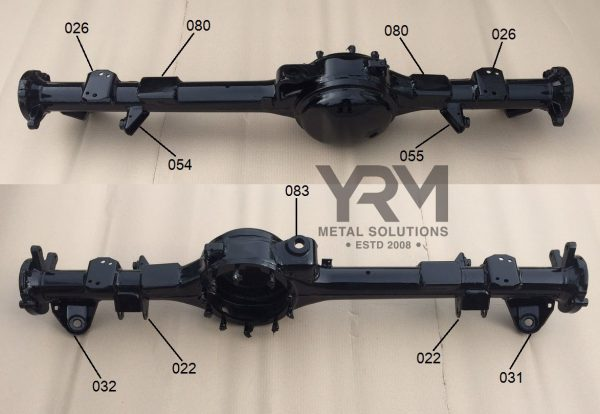 Land Rover Defender 90 110 Rear Axle Components Parts Diagram Bed
