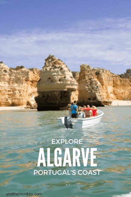 Explore Algarve Portugal sea beaches sea caves Benagil Porches Faro
