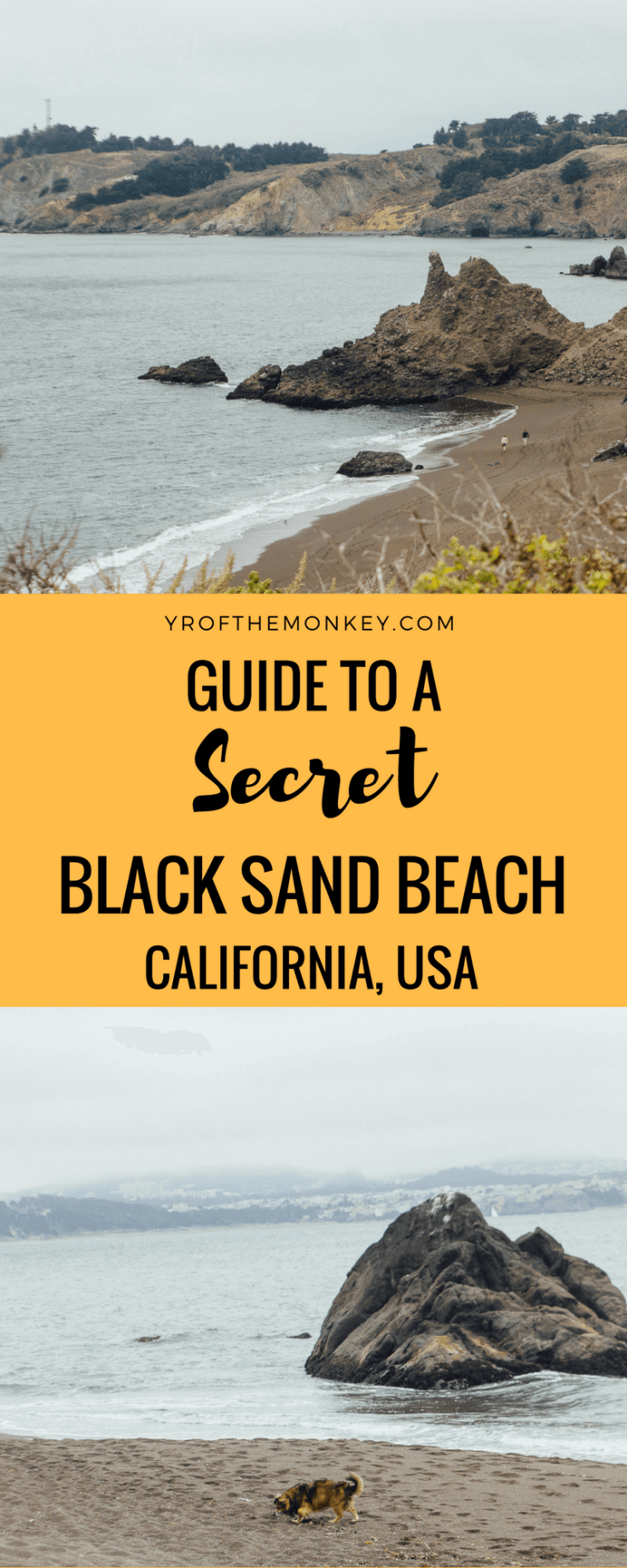 Want to escape to a secret beach in Northern California,USA for a romantic picnic? Even better, want to dip your toes in black sand? Read this post to discover a Black sand beach in Sausalito which is a local's secret and super hidden from touristy eyes. A short drive from San Francisco, this beach is one of the best kept secrets of the Bay Area! Pin this to your California board for a great day trip to Sausalito! #blacksandbeach #beach #california #bayarea #daytrip #californiatravelguide