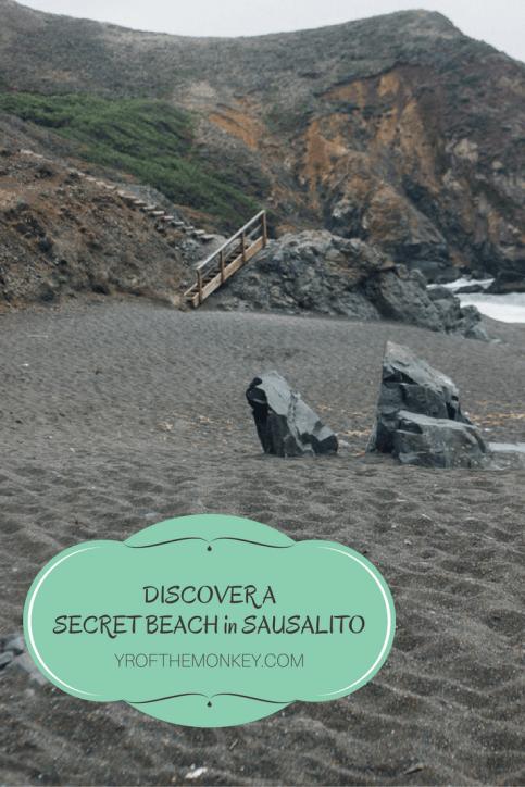 secret beach sausalito black sand