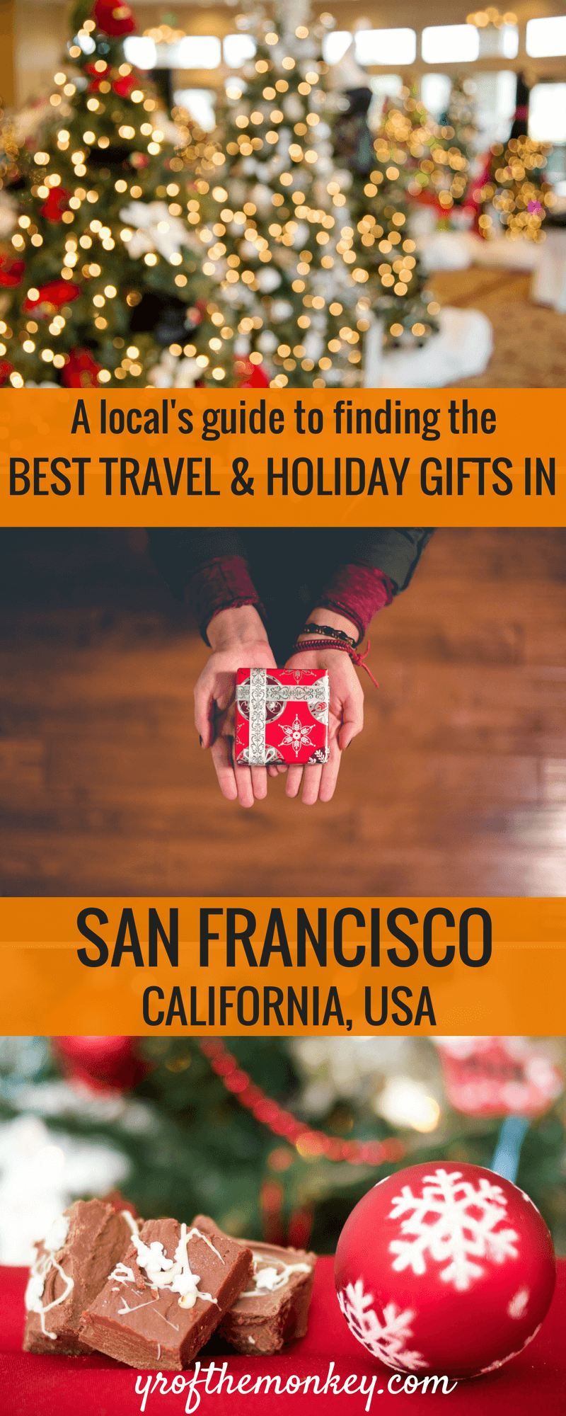 Looking for a holiday gift guide in San Francisco or personalized,local San Francisco Souvenirs? Read this local's guide to find the best Christmas and Thanksgiving gifts in San Francisco from the SFMade collective. Pin it to your San Francisco board. San Francisco shopping| San Francisco gift Guide| Shopping in San Francisco| Holiday shopping | Christmas shopping| Holiday gift guide| where to shop in San Francisco