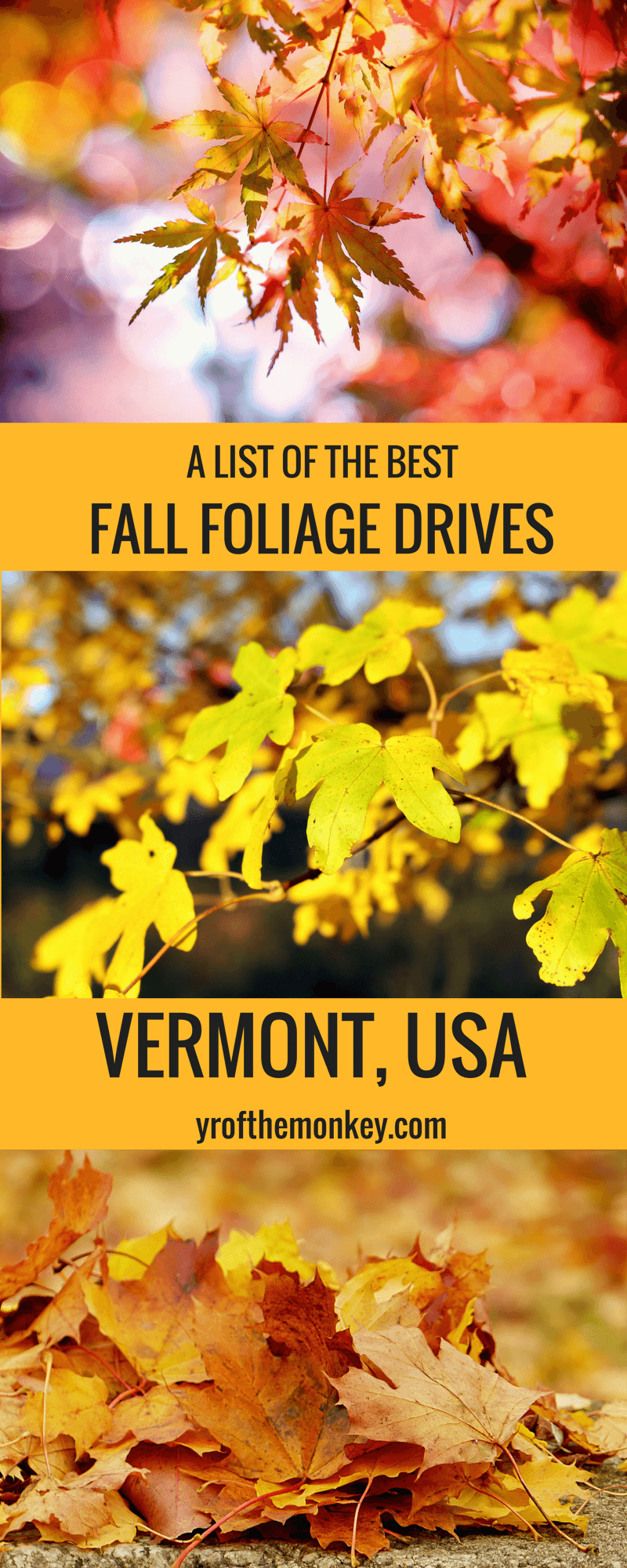 Vermont Fall Foliage drives features the best fall destination of USA, New england with best places to see fall foliage, fall foliage guide, routes to see fall colors and a handy fall foliage tracker link. Read about this ultimate USA fall destination to see dazzling fall colors. #vermont #USA #fallfoliage #fallcolors #fallvacation #foliageroutes #roadtrip #eastcoast #newengland
