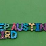 Austin texas south congress street art artinstallation travel explore USA america south liberal Fall vacation holiday