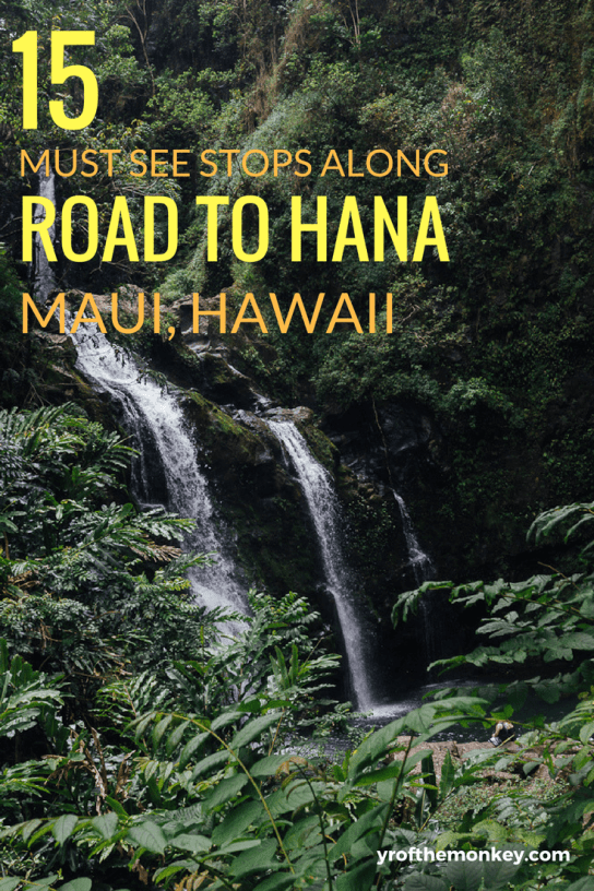 Road to Hana, Hawaii,USA is your complete and only guide that you'll need for this epic road trip in Maui, Hawaii's prettiest island. Filled with helpful tips and details on mile markers, this guide has 15 essential stops on Hana Highway that are a must visit on this road trip.