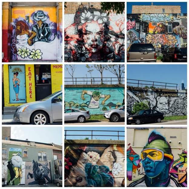 Chicago street art Pilsen Mural Wicker park