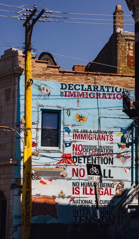 Chicago street art Pilsen murals immigration politics