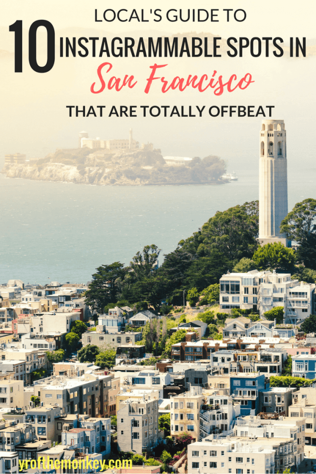 Looking for offbeat, hidden, lesser known secrets and Instagrammable places in San Francisco, California, USA? Read this SF resident's guide to 10 best San Francisco Instagram spots that will make your Instagram feed stand apart! Location map of all the instagram worthy spots included plus tips on how to take the best picture in San Francisco #sanfrancisco #california #usa #instagrammableplaces #sanfranciscoinstagramspots