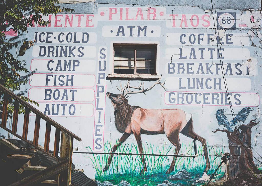 Santa Fe to Taos scenic drive, lowroad from santa fe to taos, what to see on the way from Santa Fe to taos, Rio Grande river, Rio Grande canyon, Rio Grande gorge, Pilar Village