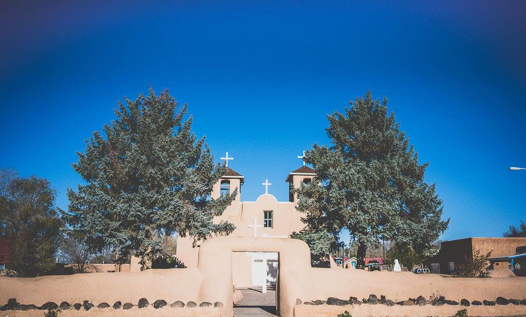 Taos to Santa Fe, San Francisco de Asis church