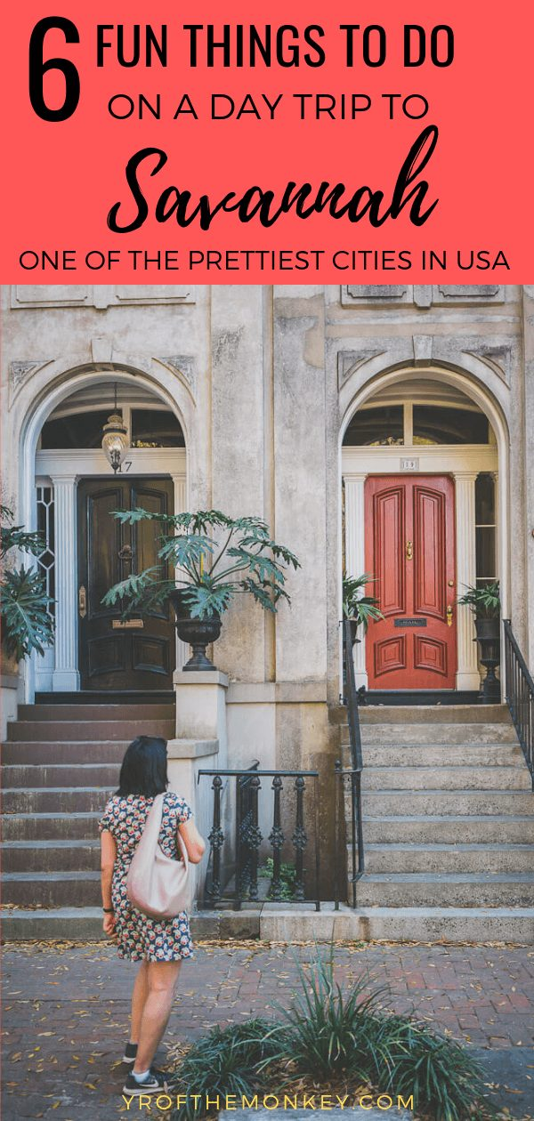 Looking for that perfect itinerary for a day trip to Savannah, Georgia? Then read this post on 6 amazing things to do in one of the most beautiful cities in USA with recommendations on top attractions and places to dine. Pin this to your USA board now! #savannah #Georgia #USA #America #Americansouth #southeastUSA #daytrip #southernfood