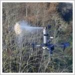 「ハチの巣撃退ドローン」登場 遠隔で殺虫剤を発射