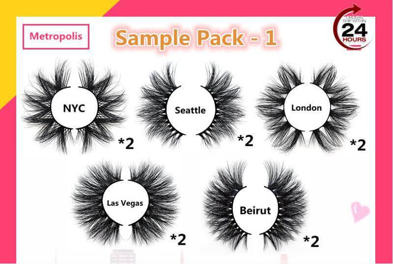 Real mink eyelash sample