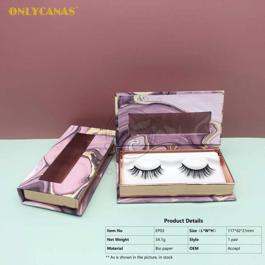 Round and Square eyelash boxes