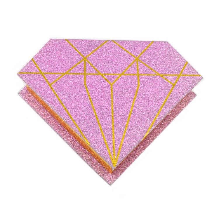 Diamond eyelash boxes