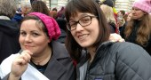 My best friend Cherie and I at the Women's March on Washington.