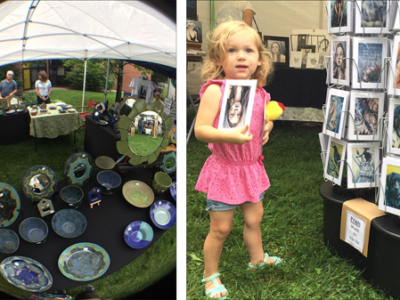 views of 'Art on the lawn'