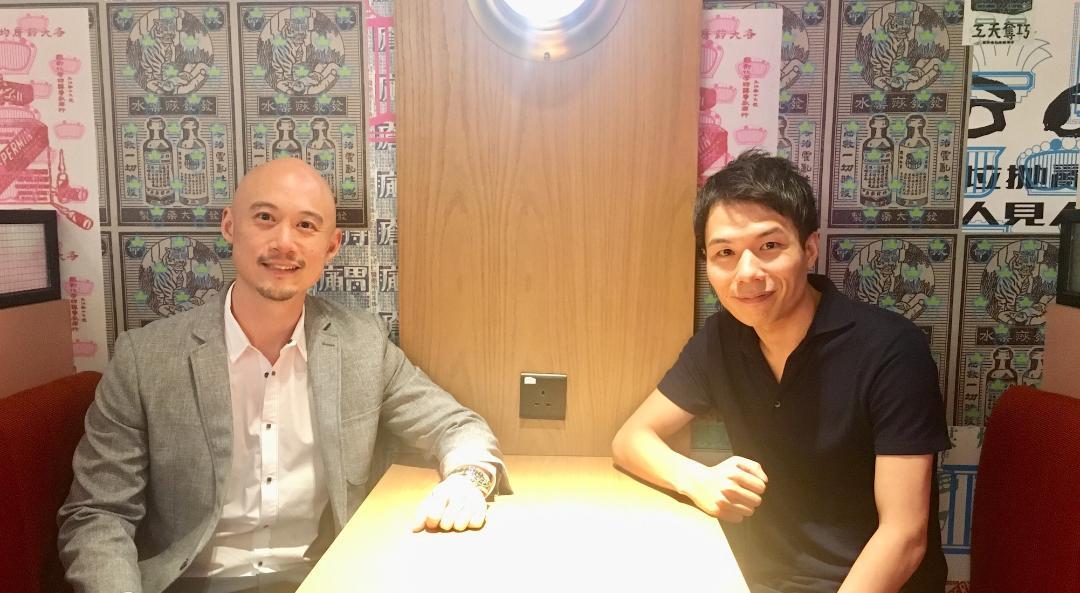 Acqua Media創辦人錢鵬(Ben Chien)(左)、AnyMind Group創辦人兼行政總裁十河宏輔(Kosuke Sogo)(右)