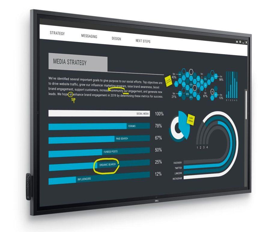Dell 86 4K 互動輕觸式顯示器﹙Interactive Touch Monitor﹚(C8621QT)
