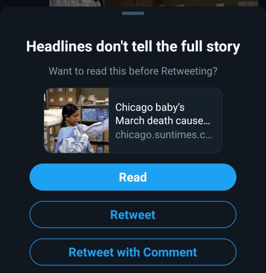 Twitter 分享前先閱讀之通知選項