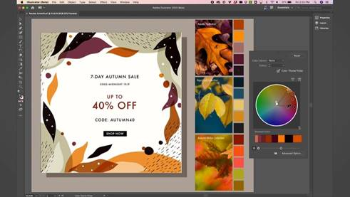 Adobe Illustrator 圖稿重新上色工具