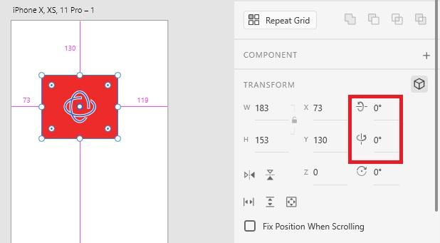 可自行輸入數值調校 3D Transforms 效果