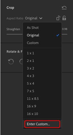 用戶如今可直接輸入數值自訂外觀比例。