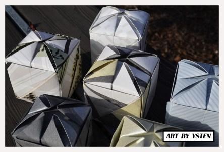 Handfolded origami boxes 2013