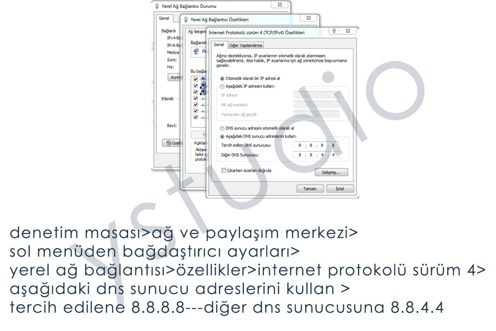 Yasaklı Sitelere Girmek - DNS Ayarlarını Vista'da Değiştirmek (1/3)