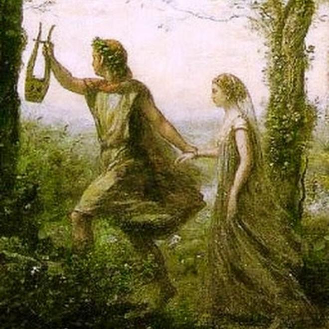 Resultado de imagen de mito de orfeo y euridice