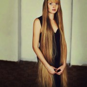 beauty of women with long hair