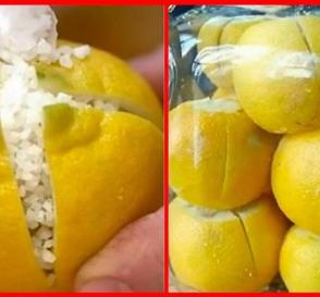 Cut a Lemon in 4 Pieces Salt It and Put in the Kitchen... Heres Why