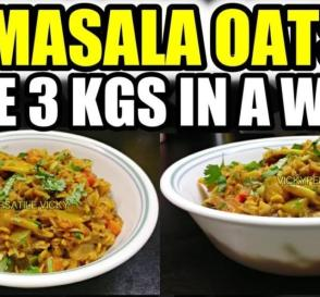 Winter Diet Meal Plan For Weight Loss Lose 3 Kgs in a Week Masala Oats Recipe For Weight Loss