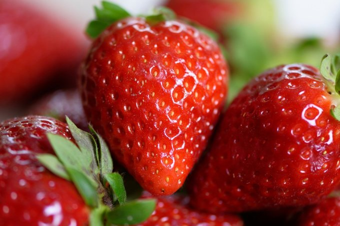 delicious strawberries are perfect ingredients for smoothie