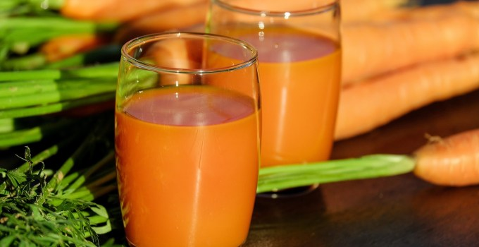 carrot smoothie with antioxidants