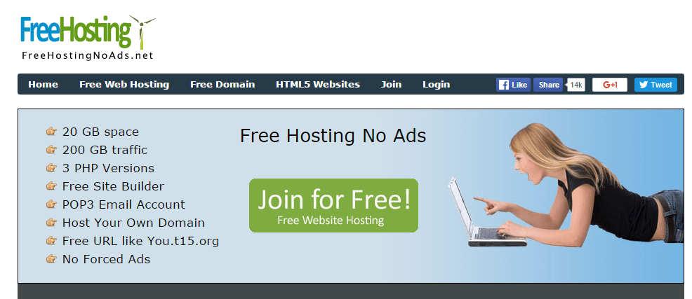 Free Hosting No Ads Free web hosting without forced advertisement PHP and MySql support