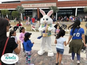 Armature Works Easter Bunny Walking with guests