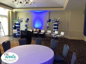 Corporate Meeting Columns and Balloon Bouquets