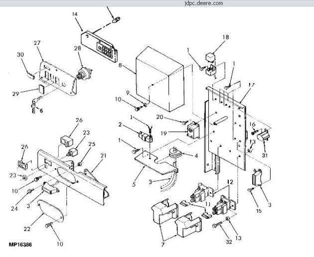 John Deere 8875 skid steer electronic control panal