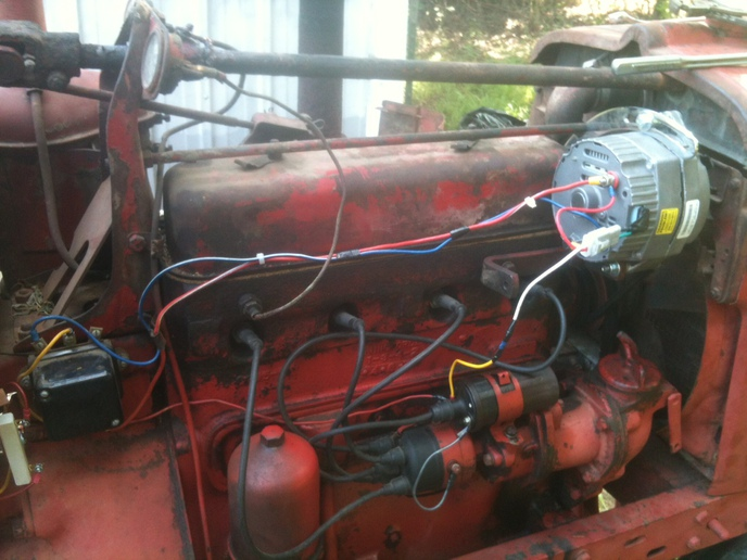 8n ford tractor wiring diagram 12 volt power sentry ps1400 amp gauge after conversion - farmall & international harvester (ihc) forum yesterday's ...