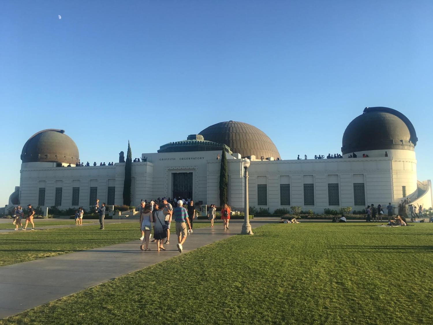 Griffith Observatory entrance, Griffith Park observatory