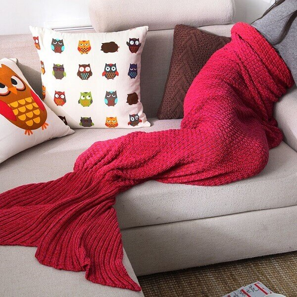 Mermaid Sofa Blanket画像2