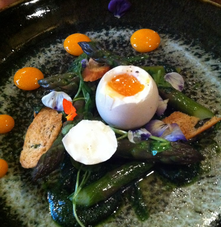 Asparagus at the Feathered Nest in the Cotswolds