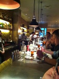 bar at burger & lobster in soho