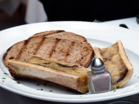 roast marrowbone served with mirto salt and crostini   Olivocarne   Yvanne Teo