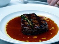 fillet of beef sautéed with Vernaccia and rosemary served with roast potatoes | Olivocarne | Yvanne Teo