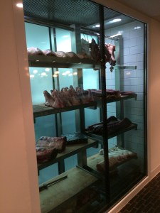 meat refrigeration display at Pollen Street Social | ytTastes | Yvanne Teo
