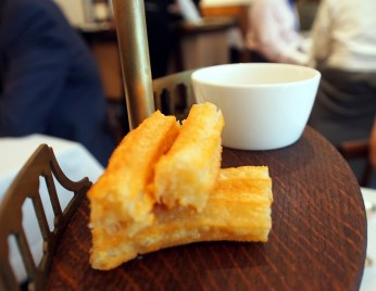 goats cheese churros with truffle honey at Pollen St Social | ytTastes | Yvanne Teo